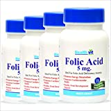 HealthVit Folic Acid 5mg 60 Tablets (Pack Of 7)