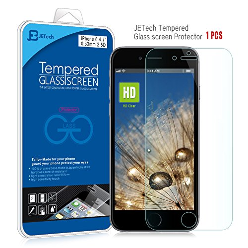 iPhone 6 Screen Protector, JETech® Premium Tempered Glass Screen Protector for Apple iPhone 6 4.7