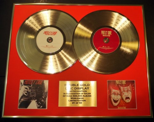 MOTLEY CRUE/DOUBLE CD GOLD DISC DISPLAY/LTD. EDITION/COA/TOO FAST FOR LOVE & THEATRE OF PAIN