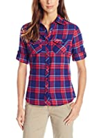 Craghoppers Camisa Mujer Bluse Braworth Langarm (Azul)