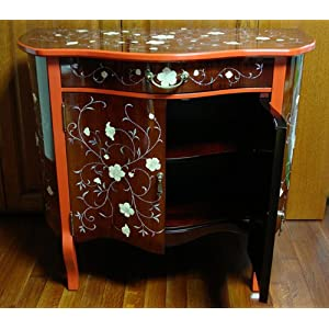 Cherry Color Drawer Hall Console TV Stand Sofa Table