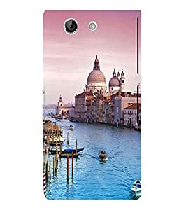 printtech Italy Sea Building Dome Back Case Cover for Sony Xperia Z4 Mini::Sony Xperia Z4 Compact