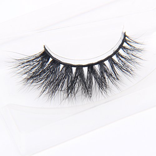 Arimika Natural 3D Long Thick Crescent-shaped Authentic Mink False Eyelashes For makeup 1 Pair Pack(Z12)