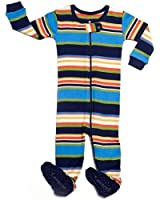 """Leveret Footed """"Multi Striped"""" Pajama Sleeper 100% Cotton (Size 6M-5T)"""