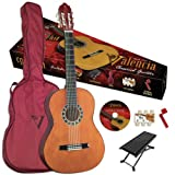 Valencia VG-CG1BU 1/2 size Classical Guitar, a High Gloss Natural Finish, Black Binding