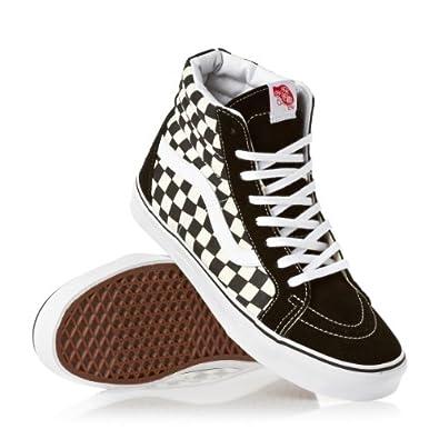 Vans shoes sneaker sk8 hi reissue bonesb black white for Vans amazon