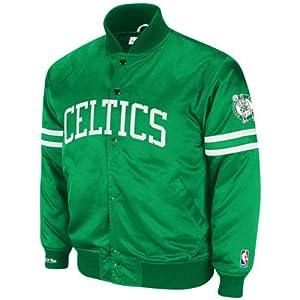 Boston Celtics Green Mitchell & Ness Backup Satin Front Snap Jacket by Mitchell & Ness