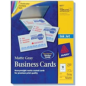 """Amazon Business Cards Blank Matte Ink Jet 2""""x3 1"""