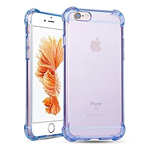 iPhone 6s Plus Case, Teelevo™ [Clear Cushion] Ultra Clear TPU Bumper, Bundle with Tempered Glass Screen Protector for iPhone 6 Plus (2014) / 6s Plus (2015) - Blue