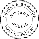 Round Notary Stamp for State of North Carolina- Self Inking Stamp Customized in one day