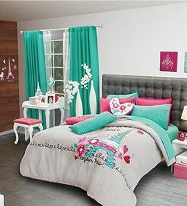 hot seller paris reversible comforter set full queen childrens comforters. Black Bedroom Furniture Sets. Home Design Ideas