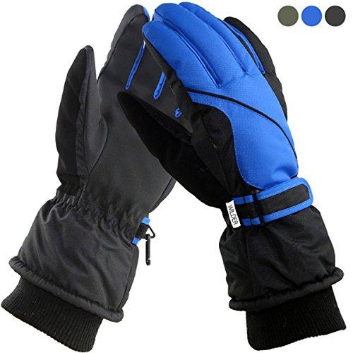 WILDER (ウィルダー) 防寒グローブ 防水 防風 あったか厚手 グローブ 360度保温ロック+3D設計 ブルー
