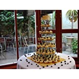 7 Tier 5mm Thick Maypole Acrylic Wedding Party Favour Cupcake Cake Stand by Classikoolby Cakestandz