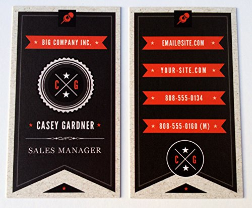 Personalized Vertical Business Cards with This Design – Custom, Color, Two-Sided, Glossy or Matte with Free Business Building Bonus (GLOSSY, 500 Cards)