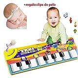 Malloom� nuevo juego t�ctil teclado cantar m�sica gimnasio alfombra estera ni�os beb� + regalo:clips de pelo