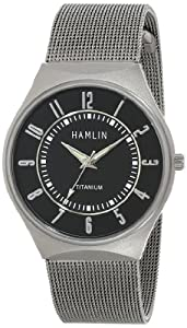Hamlin Men's HAMM0314:002/04E92GT Titanium Case Black Dial Stainless Steel Mesh Band Watch