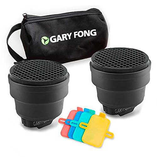 Gary Fong Dramatic Lighting Kit, Includes 2x Speed Snoot, Color Gel Filter Kit and Custom Gear Bag