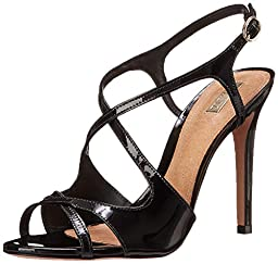 Schutz Women\'s Esadora Dress Sandal, Black Patent, 7.5 M US
