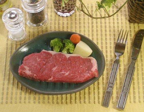 小森谷 嘉右ヱ門窯 ふしぎなお皿 料理の革命 FIRの器 小判型波深溝 陶板 MS-06390