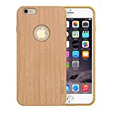 Slicoo® iPhone 6ケース 天然木製ケース ナチュラルな感じ 取り外しもスムーズ 自然シリーズカバー 4.7インチ (Cherry Wood)