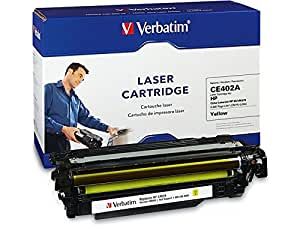 Verbatim Remanufactured Toner Cartridge Replacement for HP CE402A ( Yellow , 1-Pack )