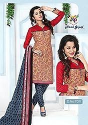 Balaji Fashion Women's cottan print suit D.NO7011_Multi-Coloured