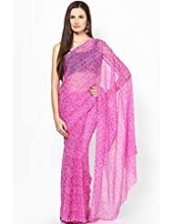 Rajasthani Sarees Ethnicwear Chiffon Bandhej Printed Saree For Women (RS27)