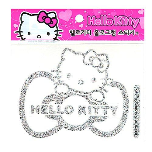 Sanrio-Hello-Kitty-Car-Decal-Sticker-Car-Accessory-Hologram-Ribbon
