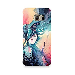 MOBICTURE Girl Abstract Premium Designer Mobile Back Case Cover For Samsung S7