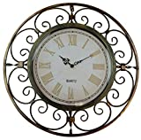 Lulu Decor, Roman Sphere Metal Wall Clock, Diameter 20 , Perfect for Housewarming Gift.