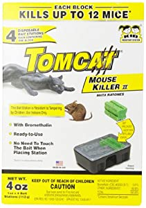 Motomco 4-Pack Tomcat Disposable Mouse Killer Amount