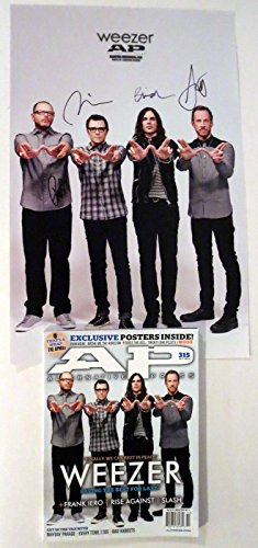 Weezer REAL hand SIGNED 11x17 Alt Press Poster with Magazine Rivers Cuomo +3 #2A (Alt Press Magazine compare prices)