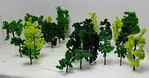 36-pieces-total-n-gauge-railroad-scenery-assorted-model-trees-3-sizes-3-colors