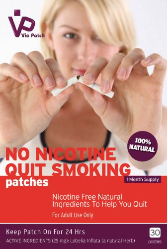 Vie Patch - NO NICOTINE QUIT SMOKING Patches - 30 Patches. 100% Natural. 1 Month Supply