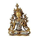 Redbag Goddess Tara Brass Sculpture ( 28.58 Cm, 21.59 Cm, 12.7 Cm )
