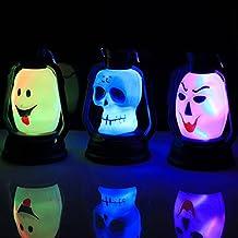 Alcoa Prime Colorful Halloween Party Lantern Decoration Props LED Light Carnival Monster Devil Style Night Lamp...