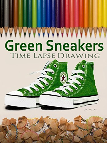 Clip: Green Sneakers Time Lapse Drawing