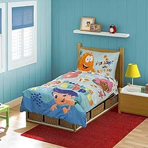 Nickelodeon Bubble Guppies 4 Piece Toddler Bedding Set Aqua Baby