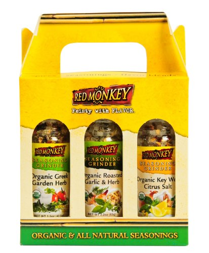 Red Monkey Foods Gourmet Grinder 3 Piece Gift