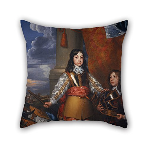 Elegancebeauty Cushion Covers Of Oil Painting William Dobson - Charles II, 1630 - 1685. King Of Scots 1649 - 1685. King Of England And Ireland 1660 - 1685 (When Prince Of Wales, With A Page),for Fe (Fitted Sheet Split King Power Bed compare prices)