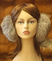 Indigo Fox Fur Earmuffs