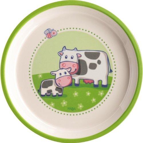 Assiette en mélamine - A la ferme : 18 cm