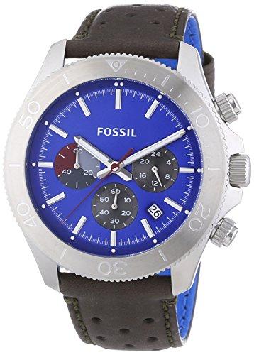 Fossil - Orologio da polso, cronografo al quarzo, pelle, Uomo