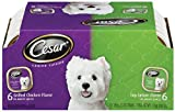 Cesar Canine Cuisine Variety Pack (Top Sirloin, Grilled Chicken) for Small Dogs, 3.5-Ounce Trays (Pack of 24)