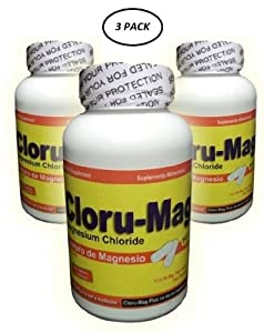 Magnesium Chloride - Cloru-Mag Plus - 3 Pack - Tablets (Cloruro De Magnesio)
