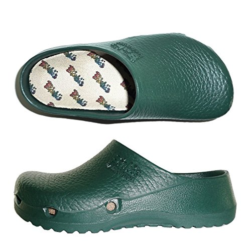 BIRKI'S BIRKENSTOCK BIRKI AIR 063061 CIABATTE DONNA zoccoli sabot scarpe verde (eur 36)