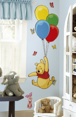 Roommates Rmk1499Gm Pooh And Piglet Peel And Stick Giant Wall Decal front-1065464