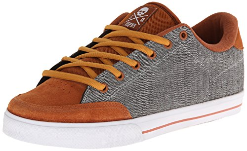 C1RCA Men's AL50-LB Fashion Sneaker,Leather Brown/Mini Herringbone,5.5 M US