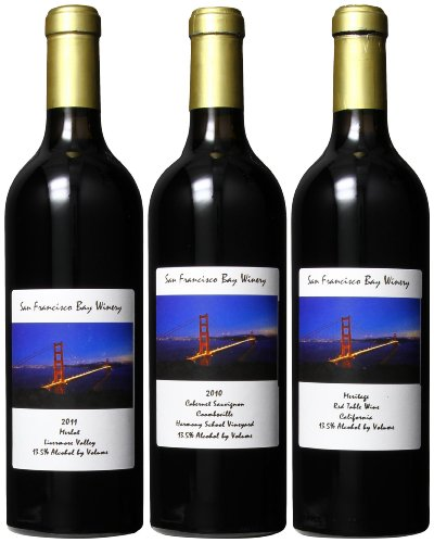 San Francisco Bay Winery Red Hot Nights On The Bay Mixed Pack, 3 X 750 Ml