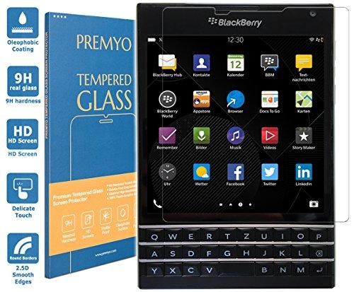 PREMYO vetro temperato BlackBerry Passport. Pellicola vetro temperato BlackBerry Passport con una durezza di 9H e bordi arrotondati da 2,5D. Pellicola in vetro BlackBerry Passport